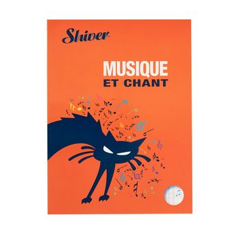 Cahier de Musique et de Chant - Shiver 24x32cm 48 pages - Shiver