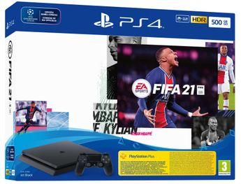 Playstation 4 Slim 500GB Black + Fifa 21 + Playstation Plus 14 Days