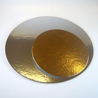 3 semelles rondes - argenté/doré - 26 cm / 3pièces