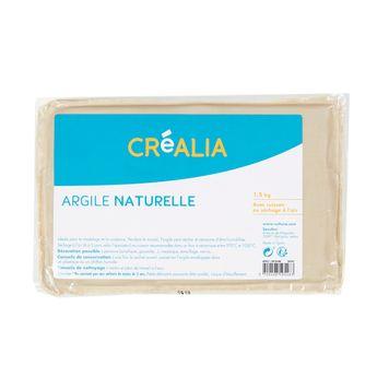 Argile naturelle - Blanche - 1,5 kg - Créalia