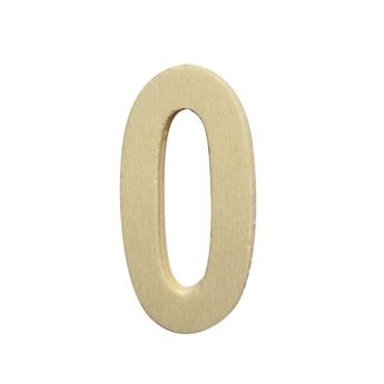 Chiffre 0 - bois - 5cm - Créalia