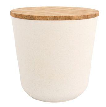 Boîte de réserve en bambou, ronde, 450ml,  10,5cm ø,10,5cm, boîte 1pce