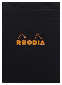 Bloc agrafé Rhodia BLACK N°16 14,8x21cm 80F Q.5x5 80g