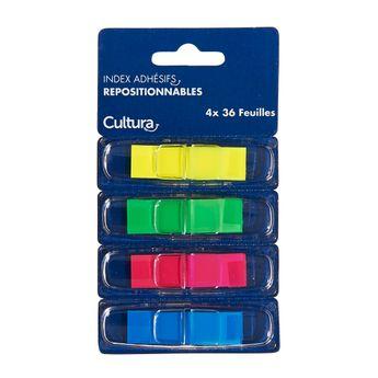 144 index adhésifs de couleurs Cultura
