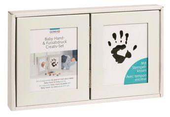 Kit empreinte bébé 20,4x12,2cm double cadre avec encreur