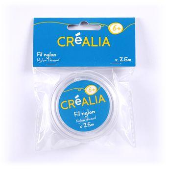 25 mètres de fil nylon non-élastique transparent - Créalia