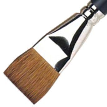Pinceau à lavis en martre pour aquarelle -manche court - 25mm