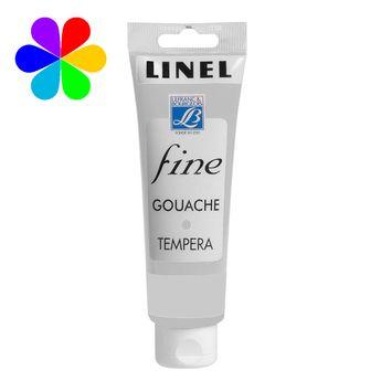 Gouache Linel 120ml blanc permanent