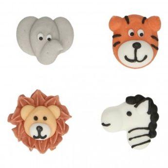 Décors en sucre - animaux de safari - 8 pièces