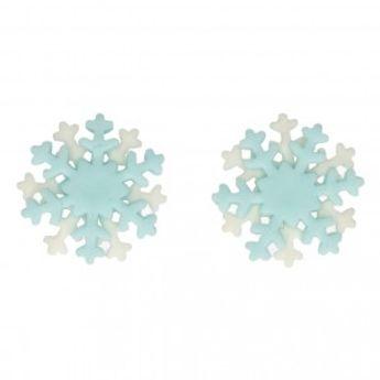 Décors en sucre - flocons de neige - 6 pièces