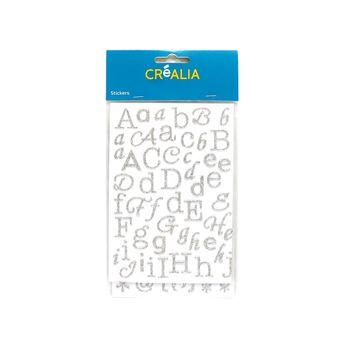 Alphabet Glitter - Argent - Créalia