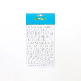 Alphabet Glitter majuscule - Argent - Créalia