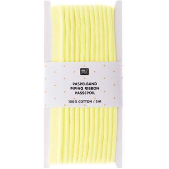 Passepoil, jaune fluo 1cmx3m