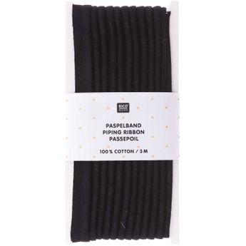 Passepoil, noir 1cmx3m