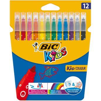 BIC Kids feutres de Coloriage - Etui Carton de 12