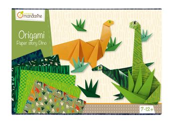 Boîte créative Origami dinosaures