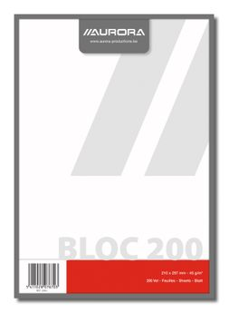 BLOC BROUILLON A4 200FLLS UNI