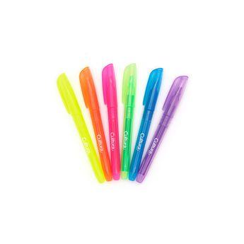 6 surligneurs fluo - pointe fine