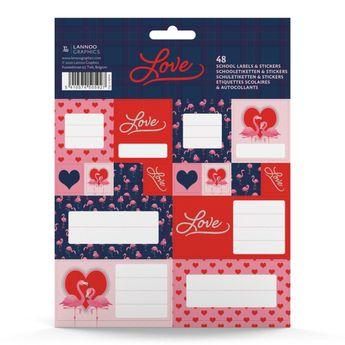 Étiquettes scolaires & autocollants - Love